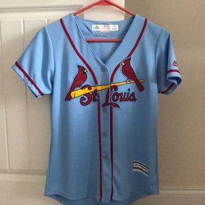 Saint Louis Cardinals Throwback Blue Jersey